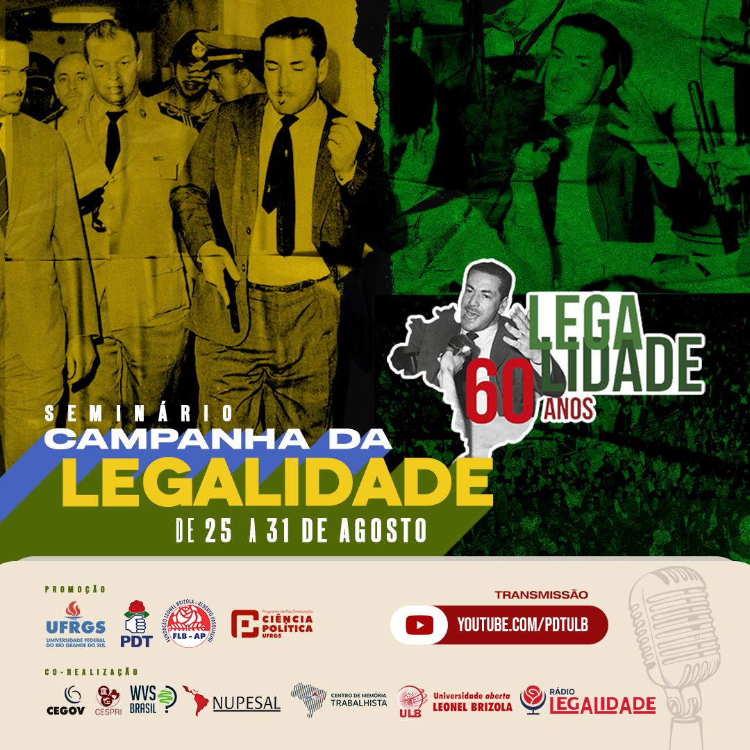Course Image SEMINÁRIO: A CAMPANHA DA LEGALIDADE - 60 ANOS
